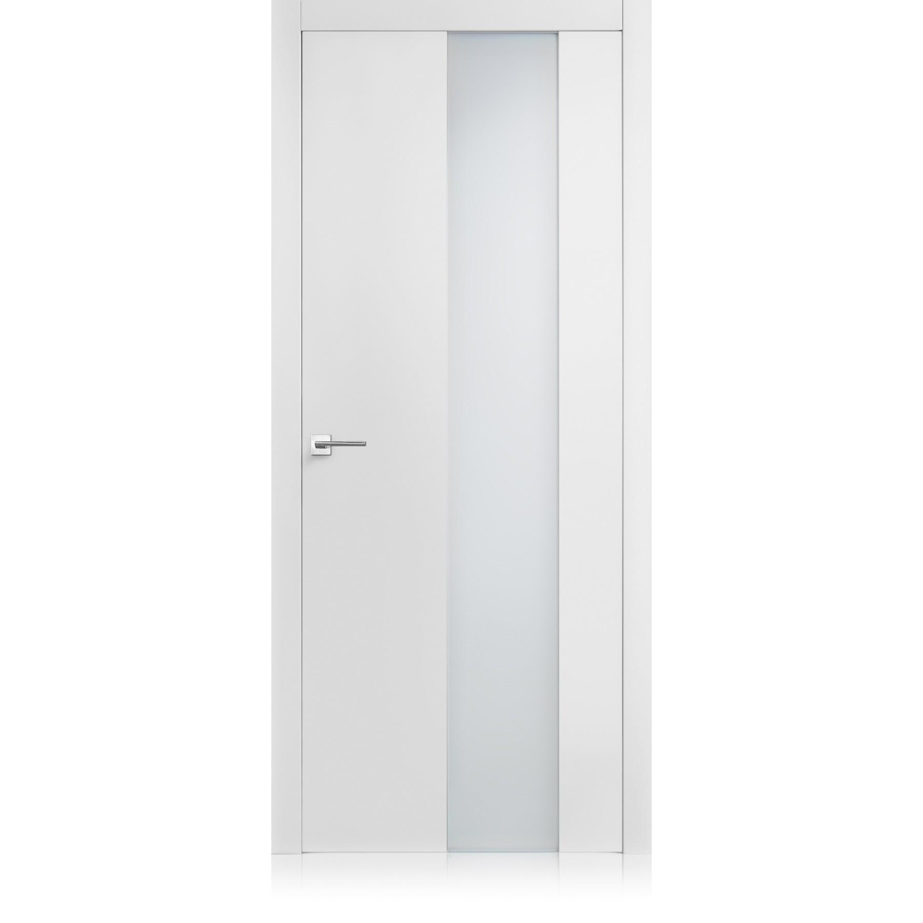 Equa vetro bianco door