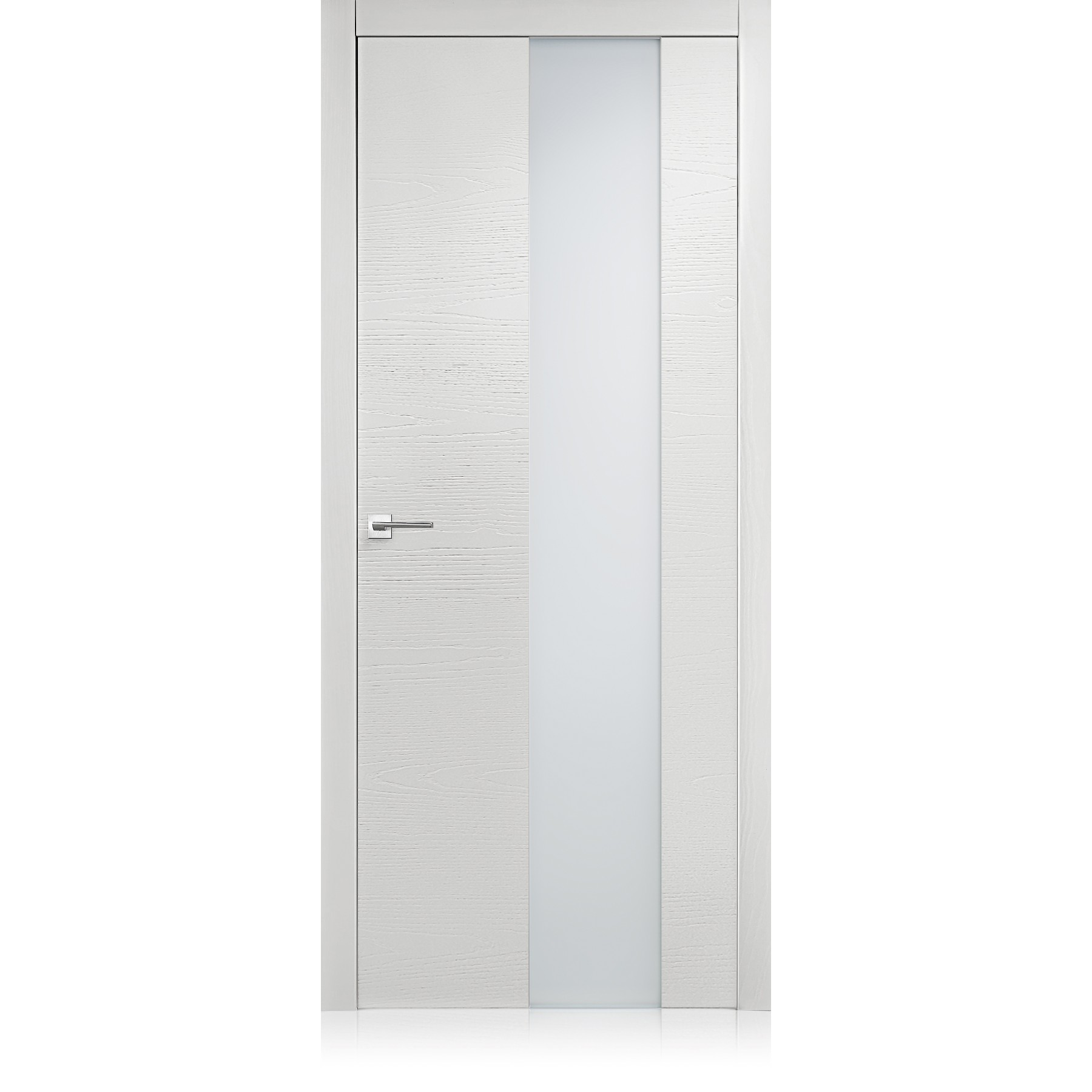 Porta Equa vetro trame bianco