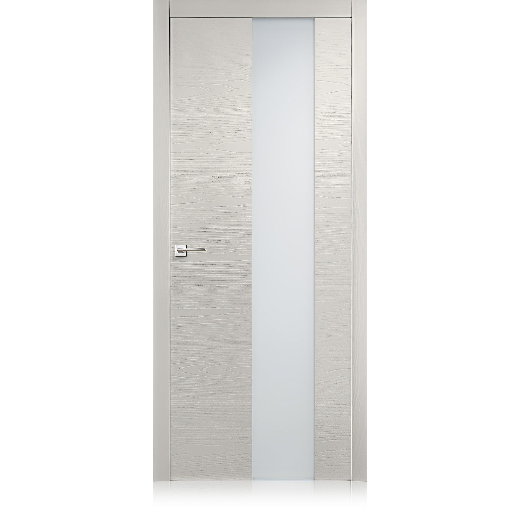 Porta Equa vetro trame grigio lux