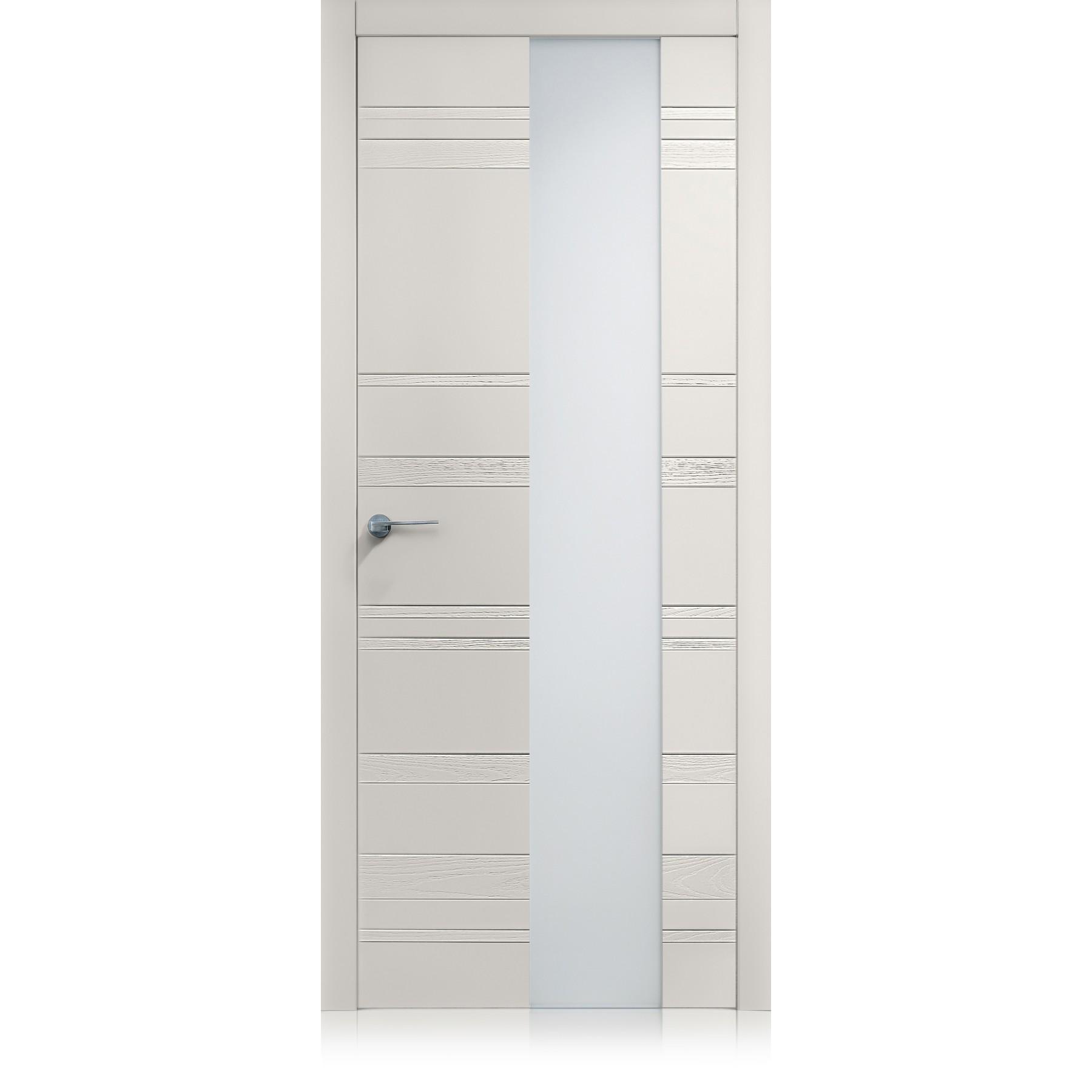 Porta Equa Styla Vetro trame grigio lux