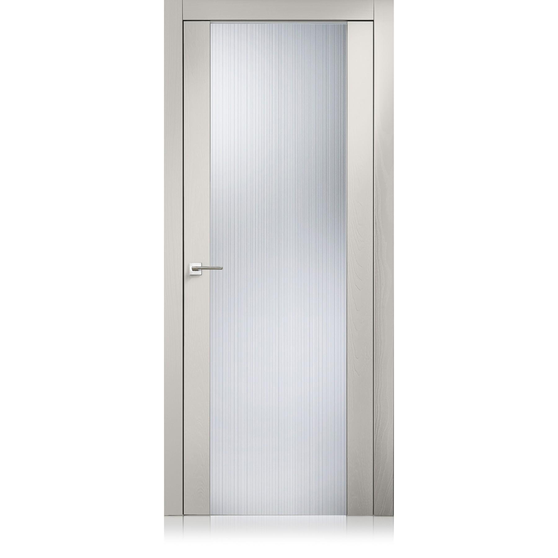 Porta Glass trame grigio lux
