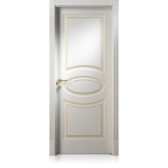 Porta Kevia / 8 anticato con filetto oro/argento