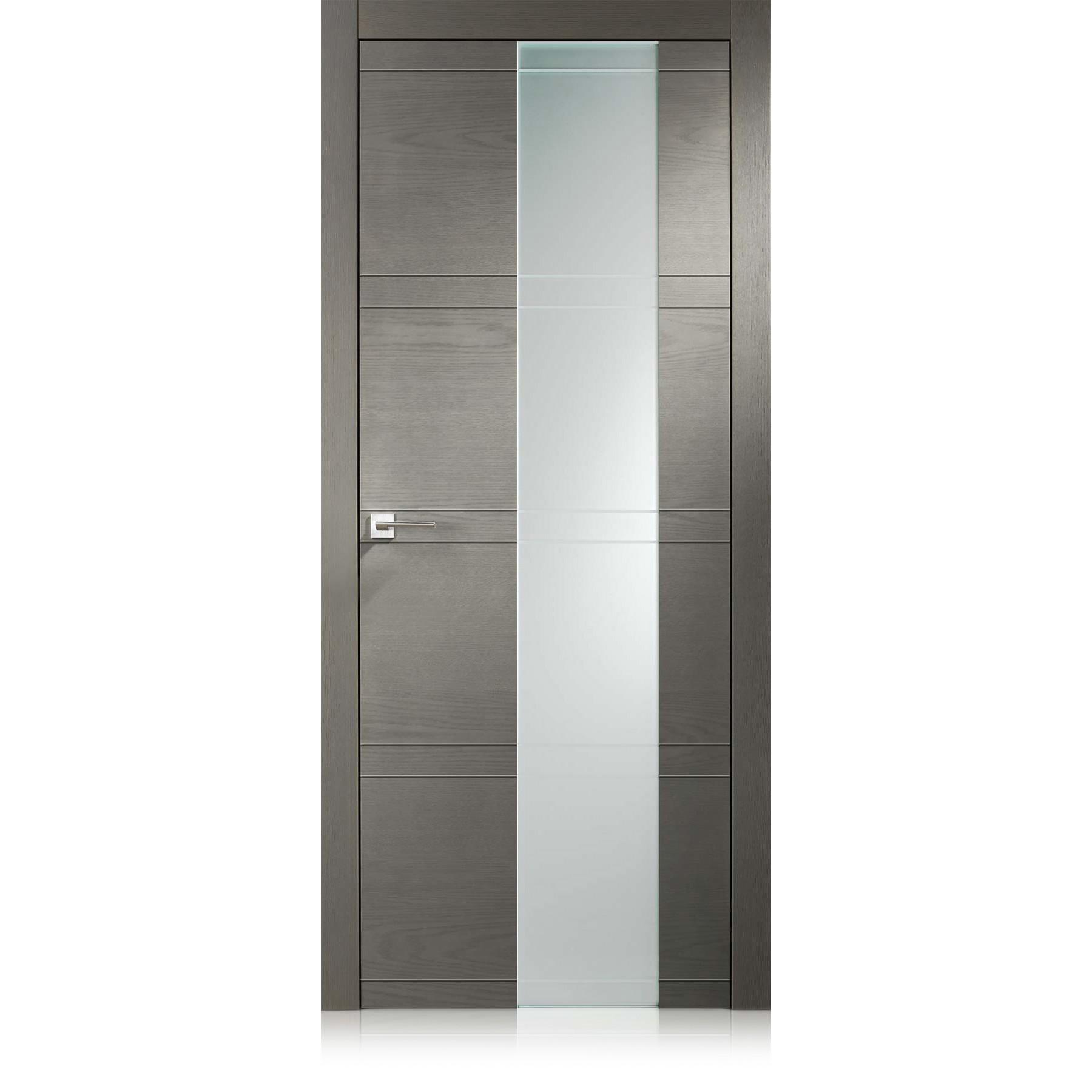 Porte Intaglio / 10 Vetro ecorovere grigio