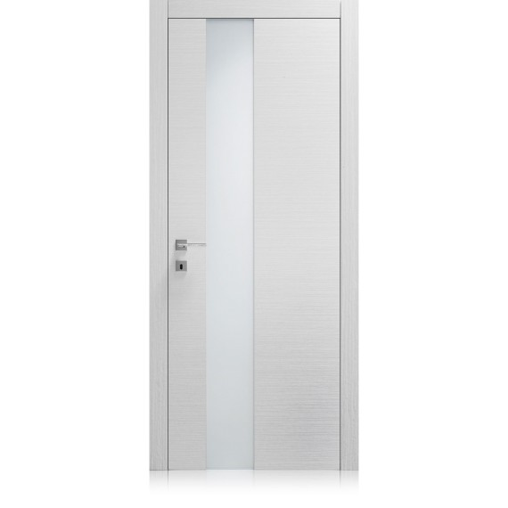 Logica Vetro Point frosted extraclear glass door