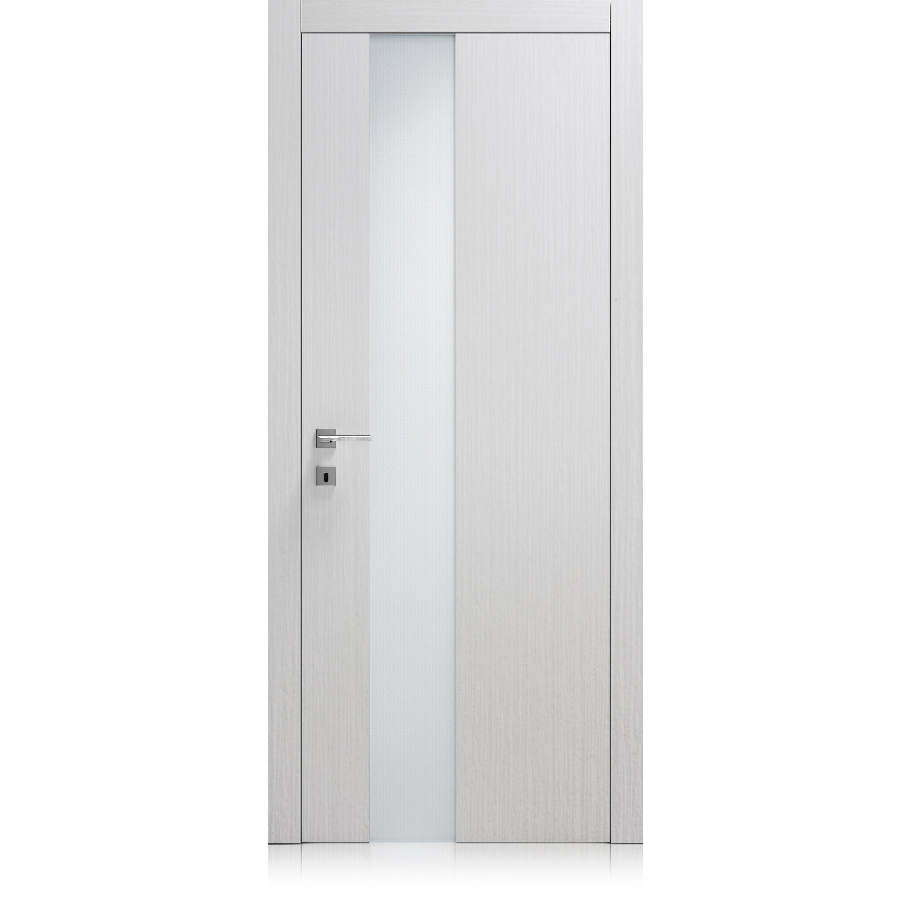 Porte Liss Vetro materic bianco