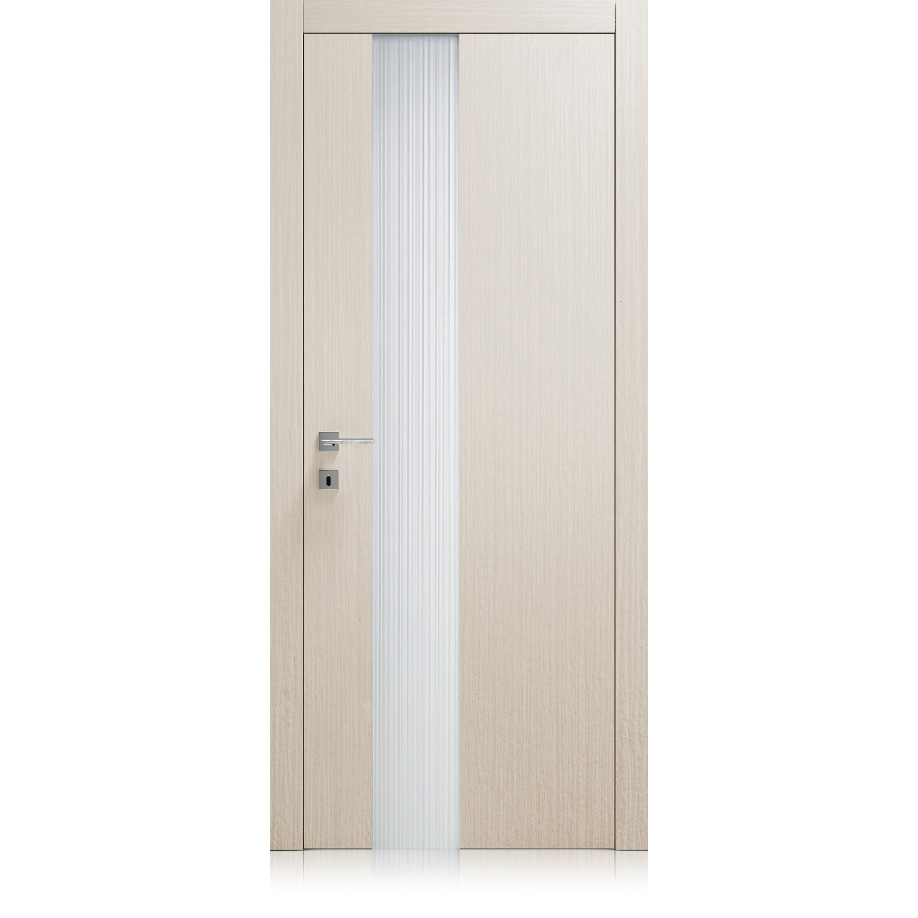 Liss Vetro Point frosted extraclear glass door