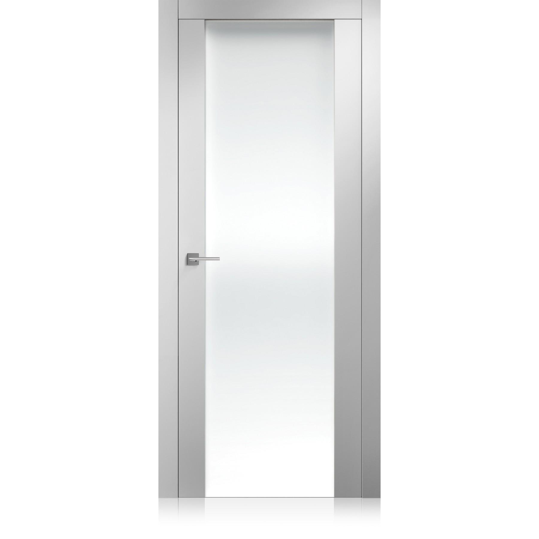 Porta Liss Vetro Large bianco