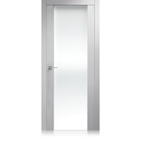 Porta Liss Vetro Large grafis bianco