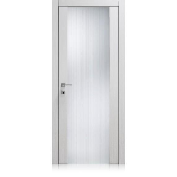 Porta Liss Vetro Large materic bianco