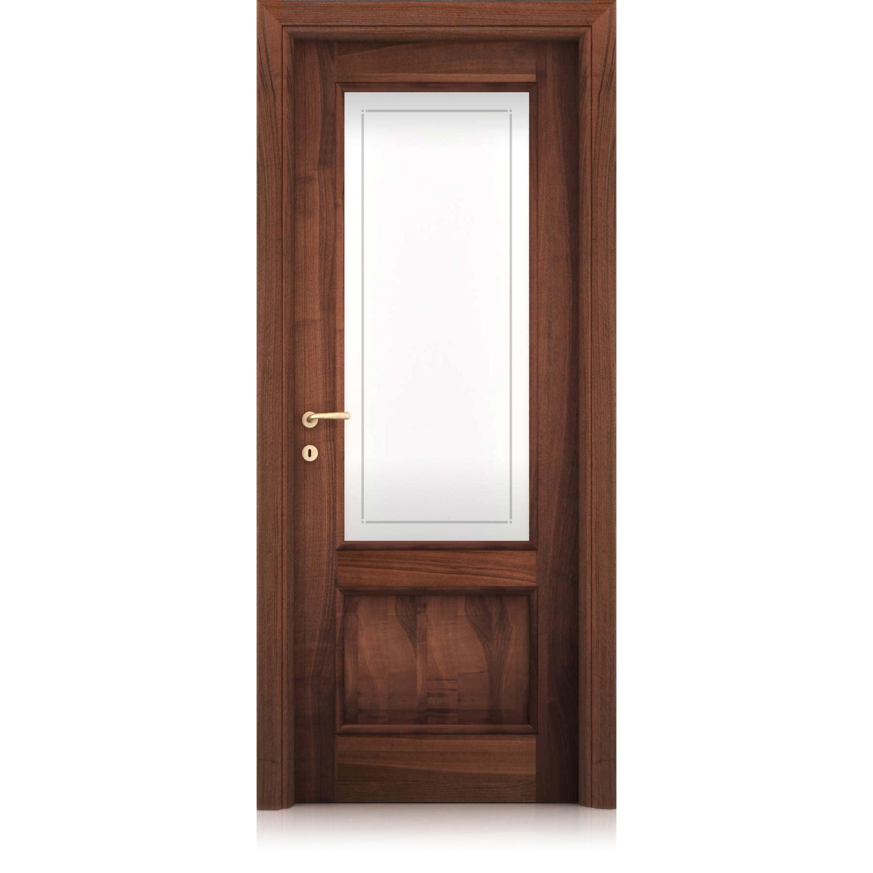 Tempora Decorato perimeter thread glass door
