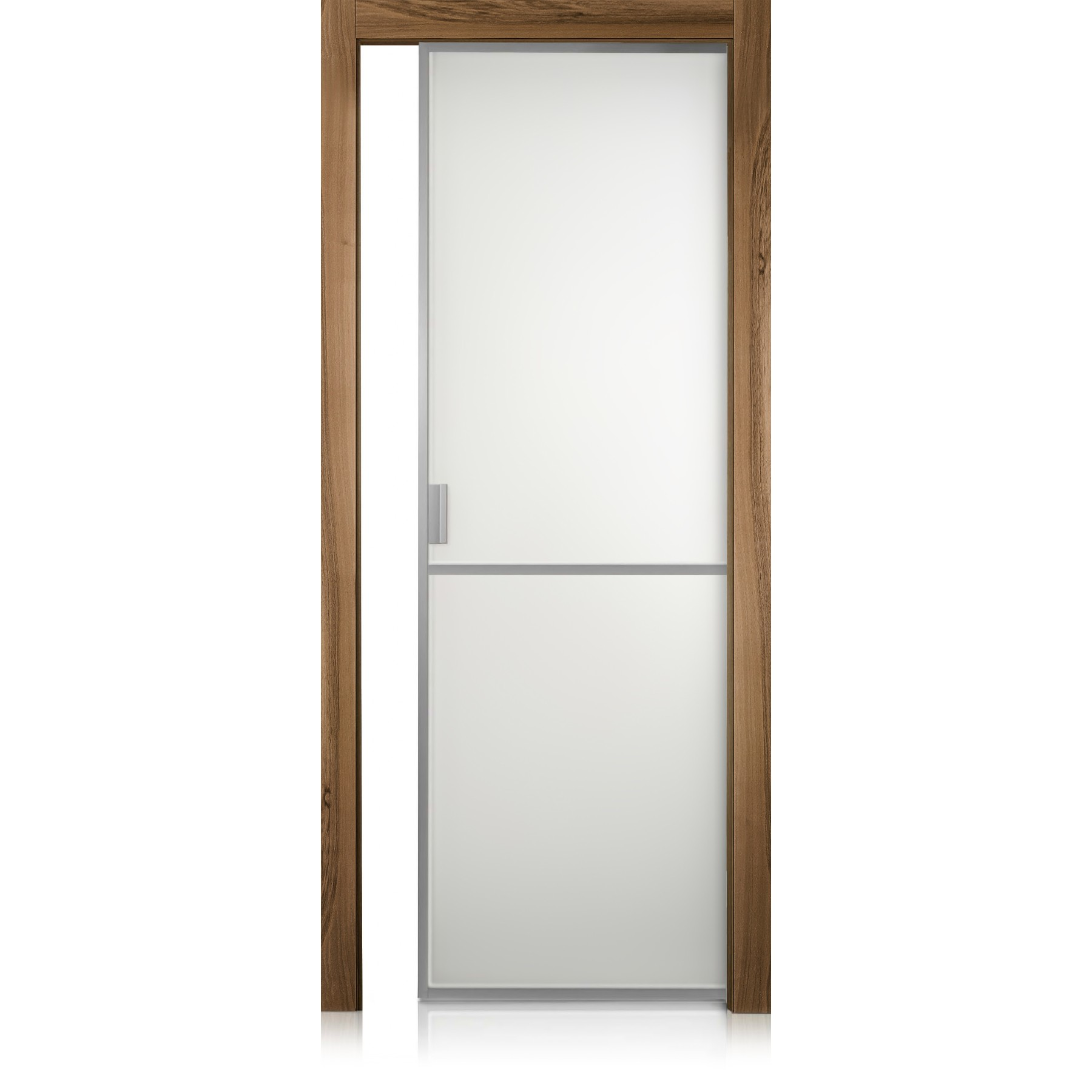 Cristal Frame / 1 noce natural touch door
