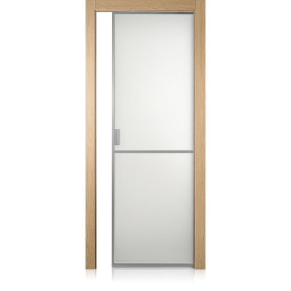 Cristal Frame / 1 rovere natural touch door