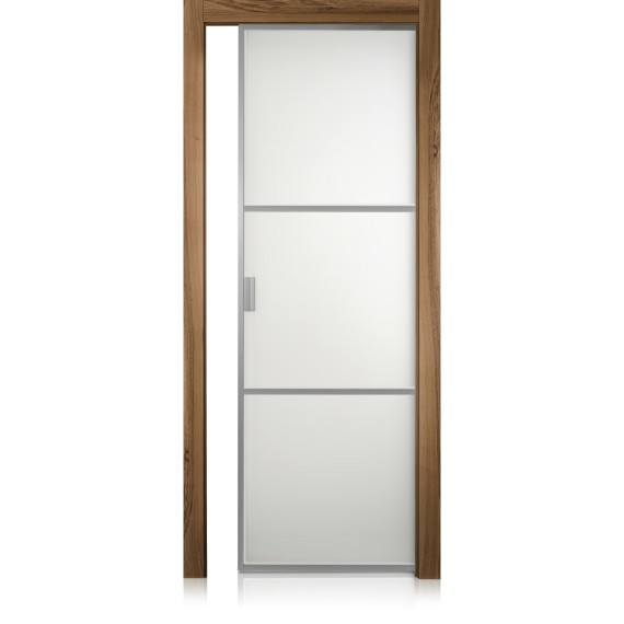 Cristal Frame / 2 noce natural touch door