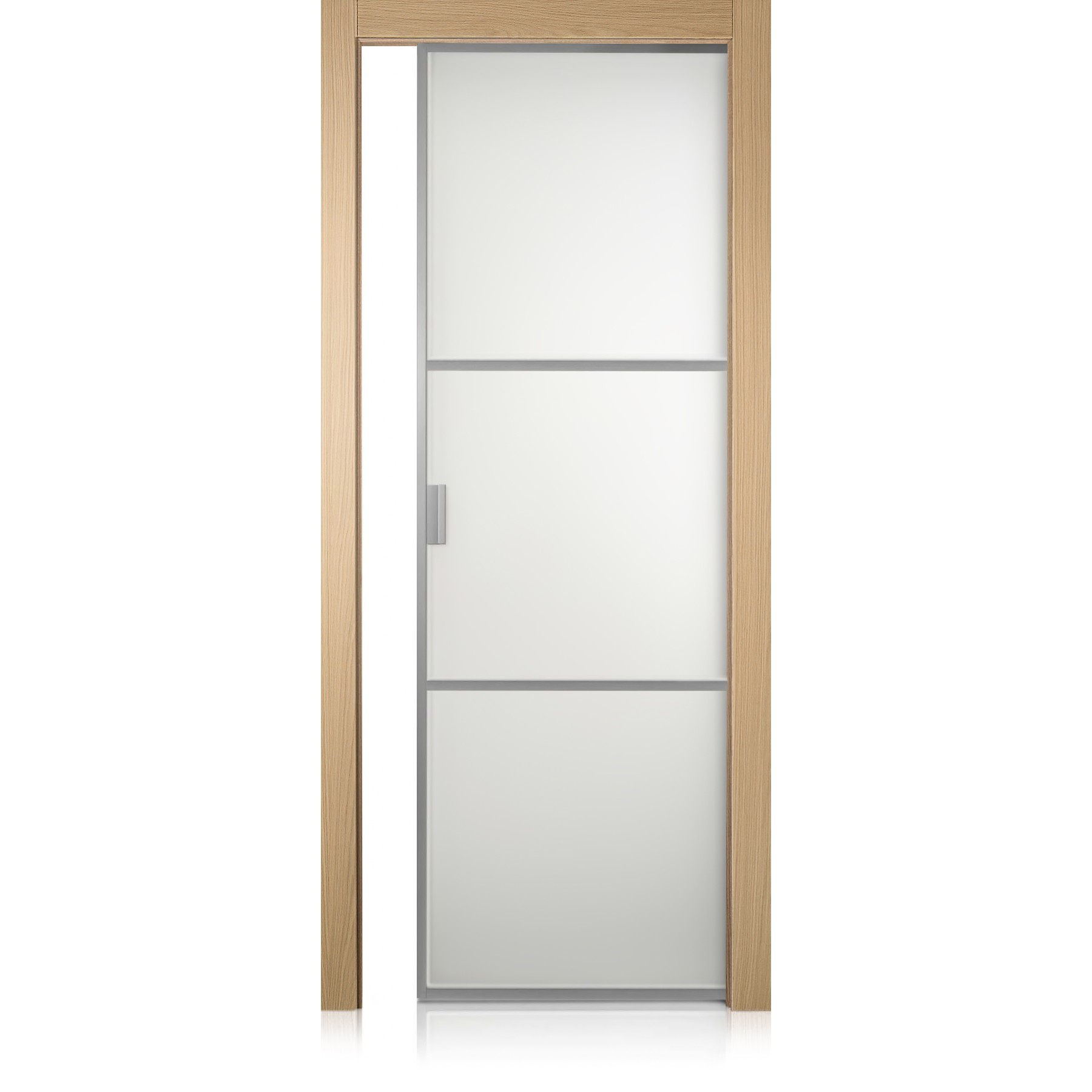 Porta Cristal Frame / 2 rovere natural touch