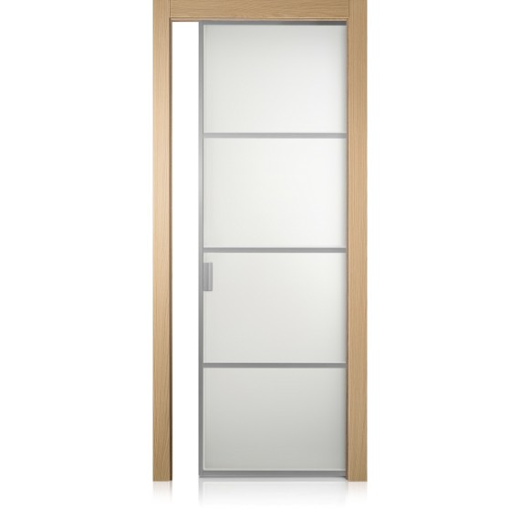 Porta Cristal Frame / 3 rovere natural touch