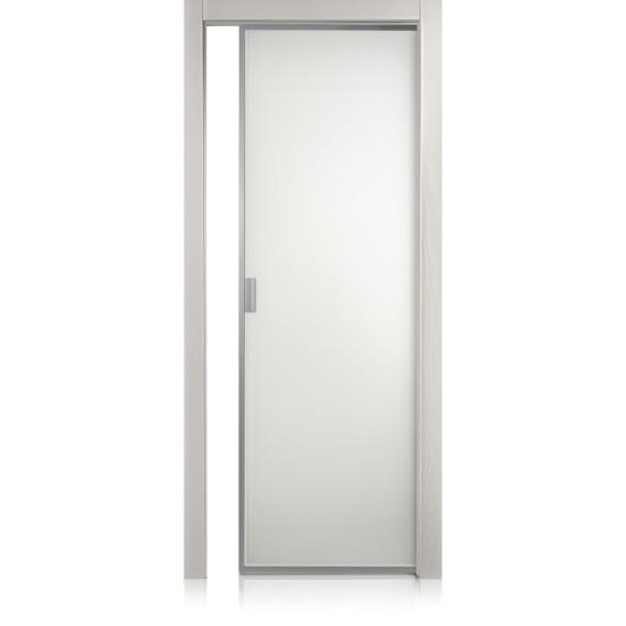 Porte Cristal Frame Textures Grigio lux