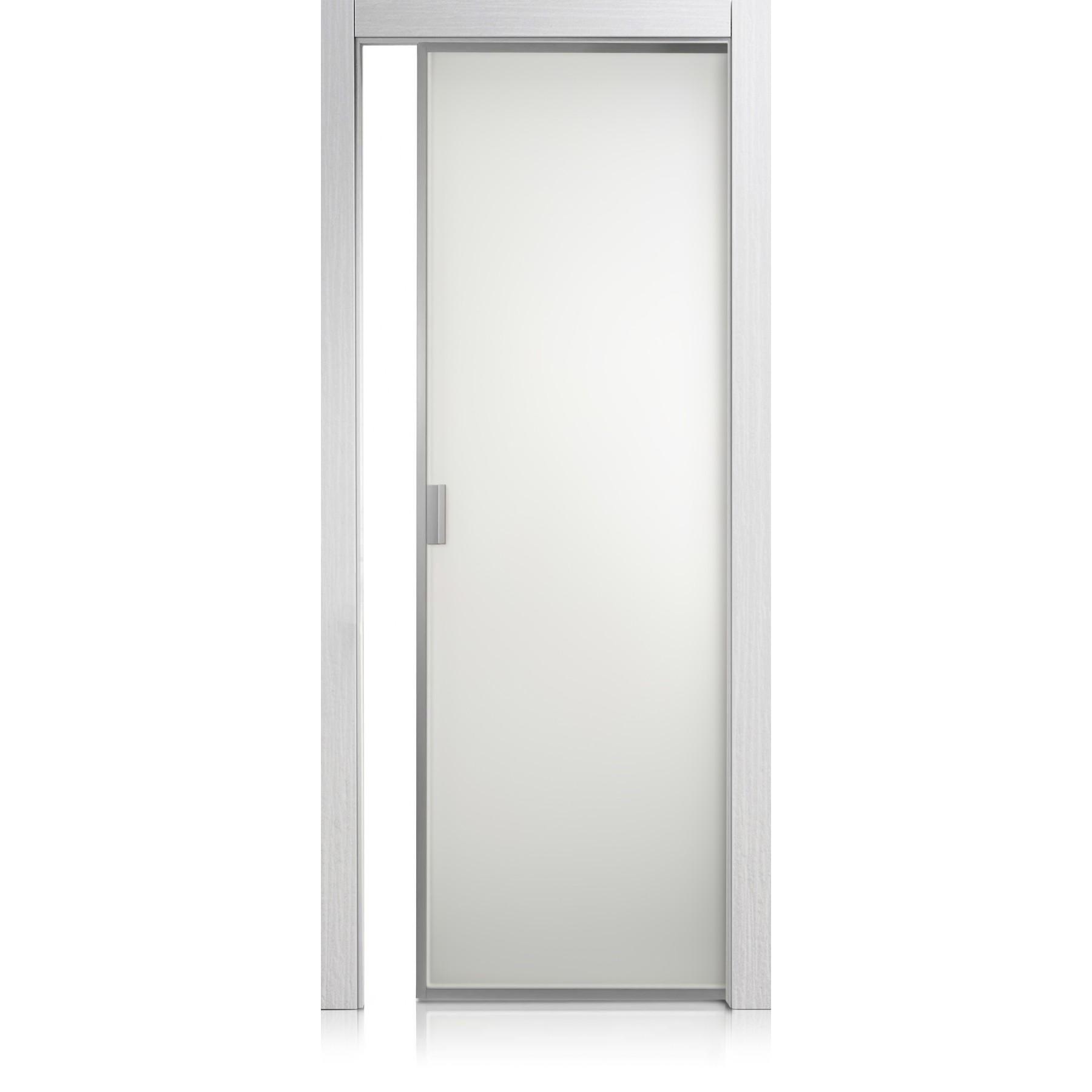 Porta Cristal Frame materic bianco