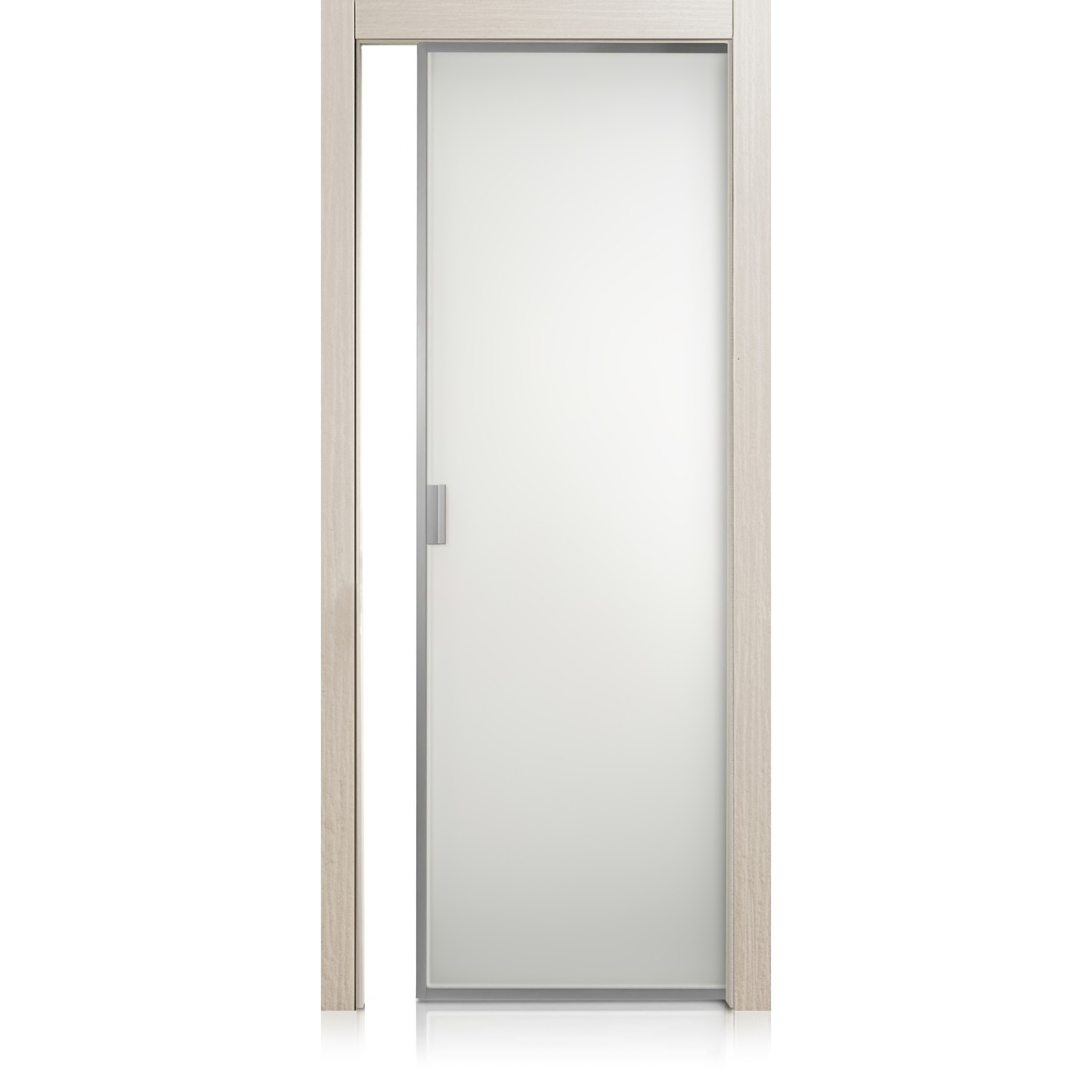 Porta Cristal Frame materic greige