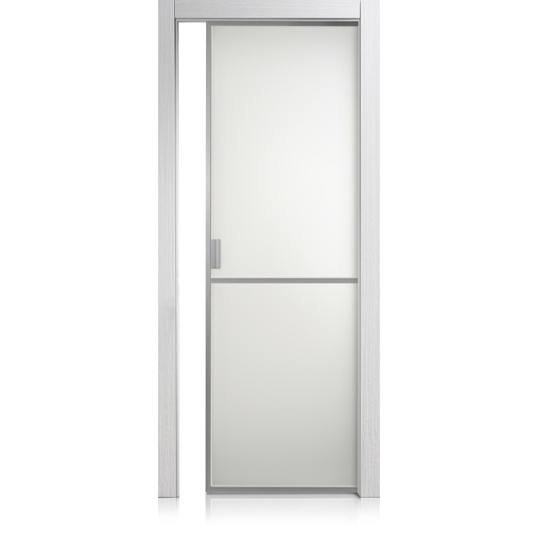 Cristal Frame / 1 materic bianco door