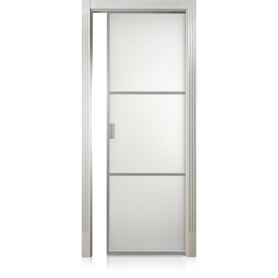 Porta Cristal Frame / 2 anticato con filetto oro/argento