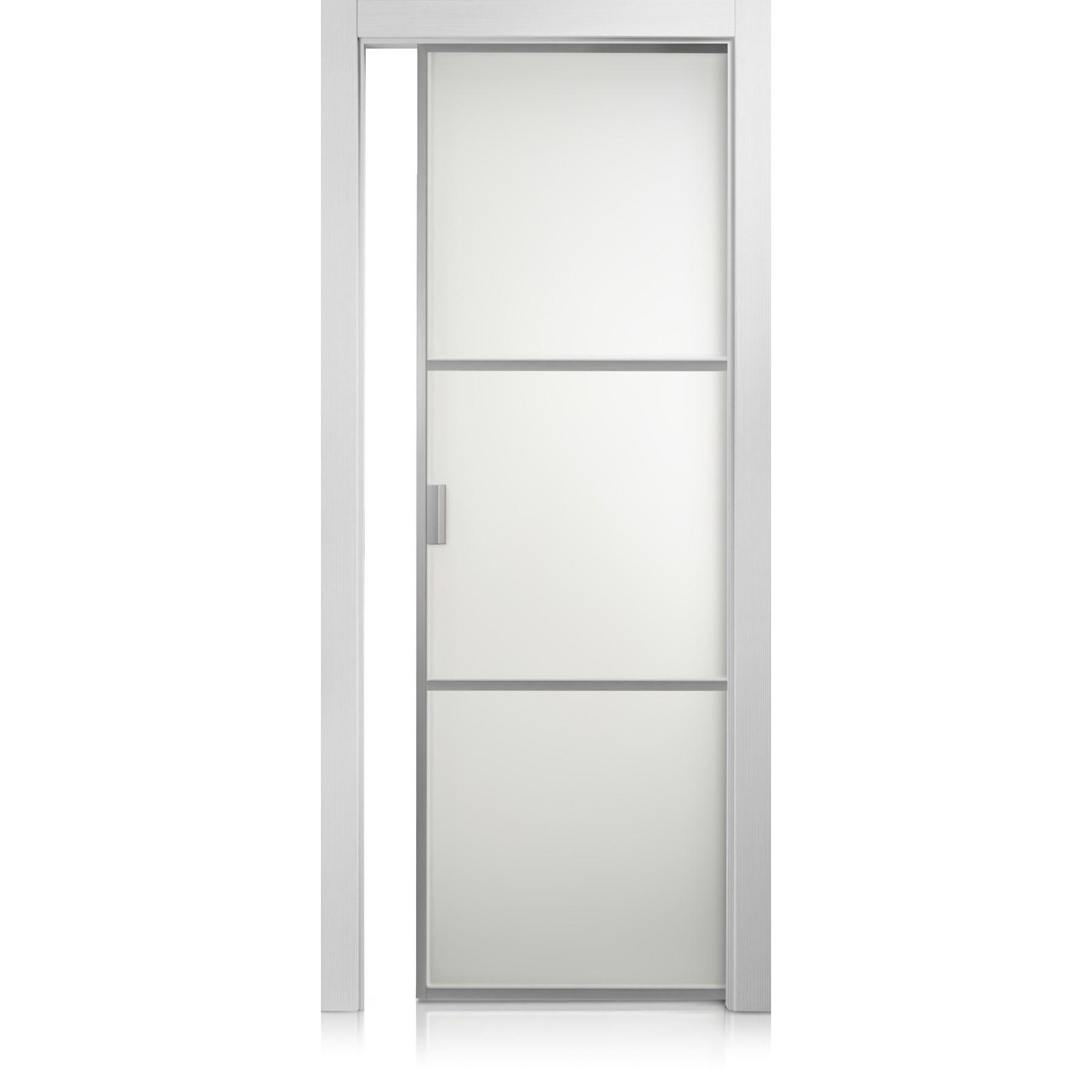 Porta Cristal Frame / 2 grafis bianco