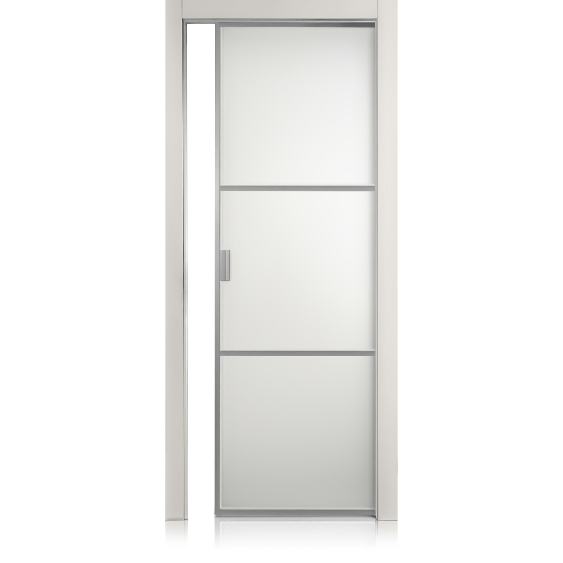 Porta Cristal Frame / 2 grigio lux