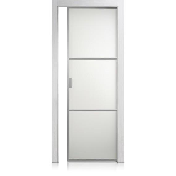Porte Cristal Frame / 2 materic bianco