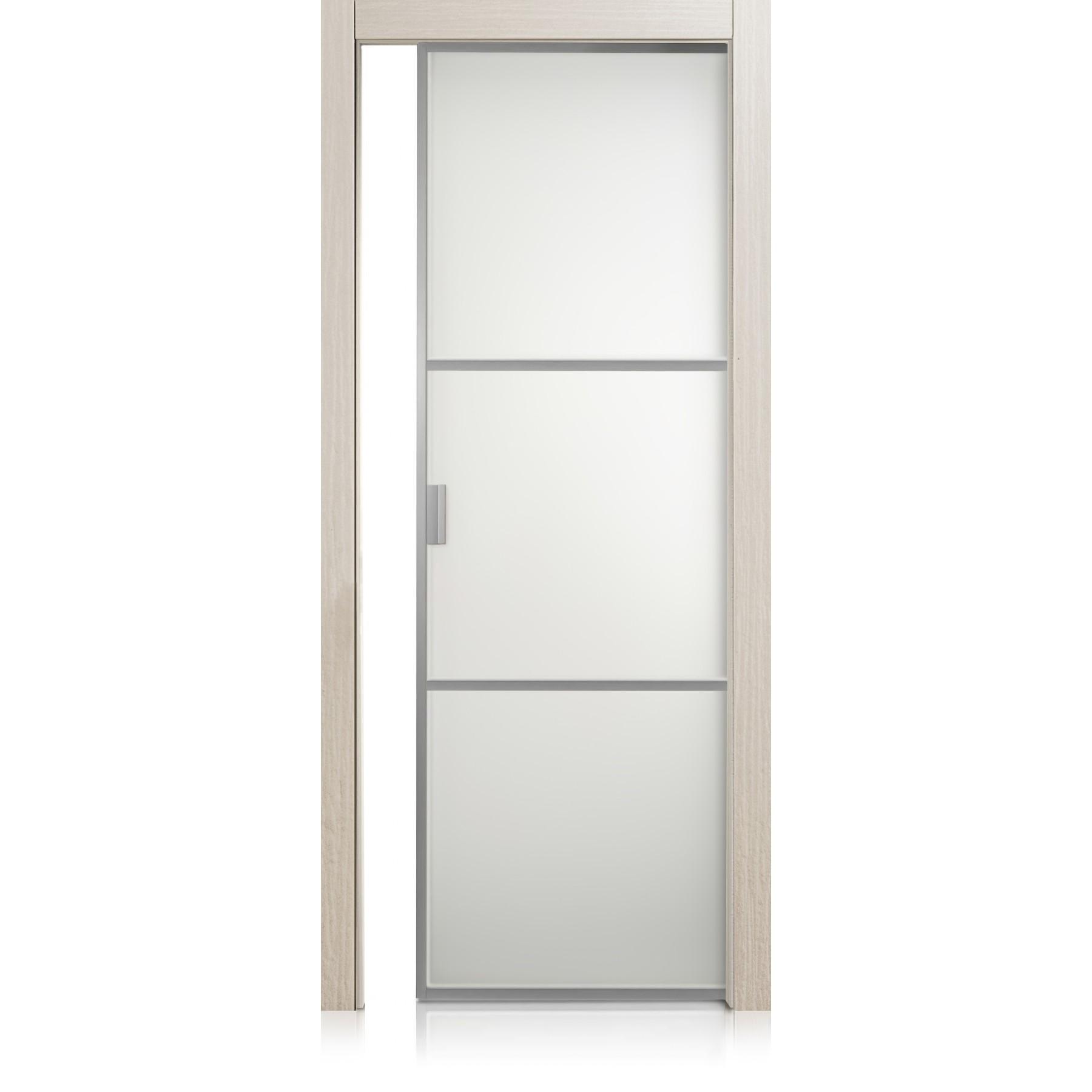 Cristal Frame / 2 materic greige door