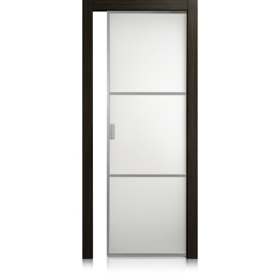 Cristal Frame / 2 materic noir door
