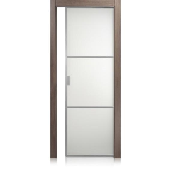 Cristal Frame / 2 ontario cuoio door