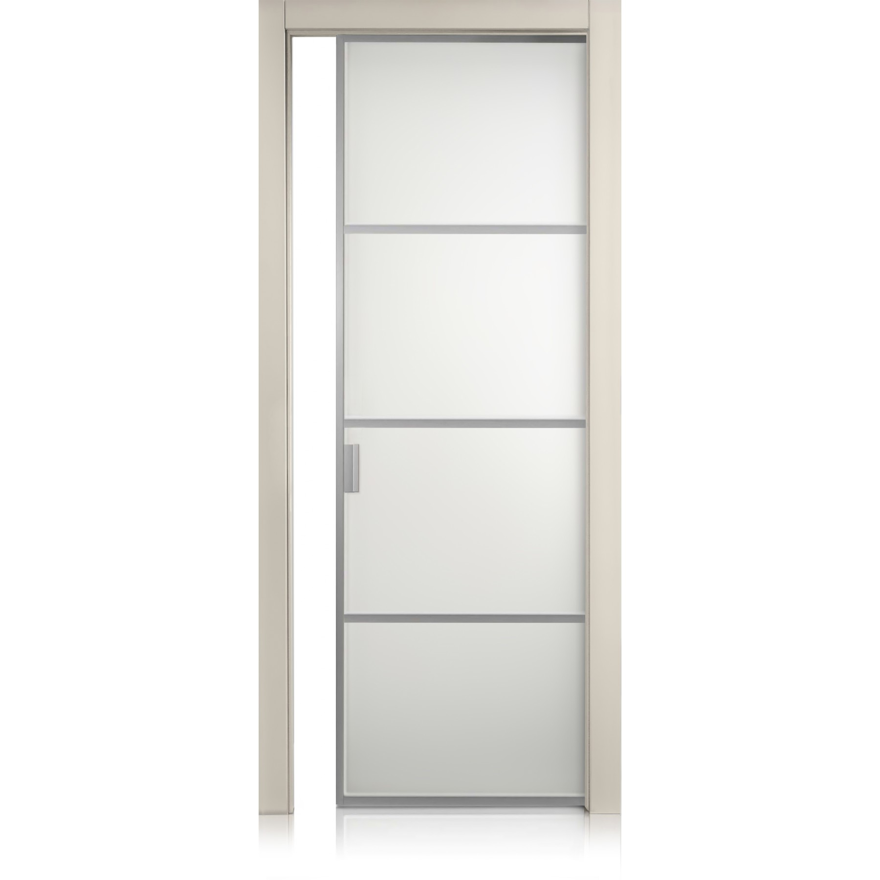 Cristal Frame / 3 Two-colour glass (available in different colours) door