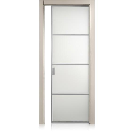 Porta Cristal Frame / 3 trame tortora