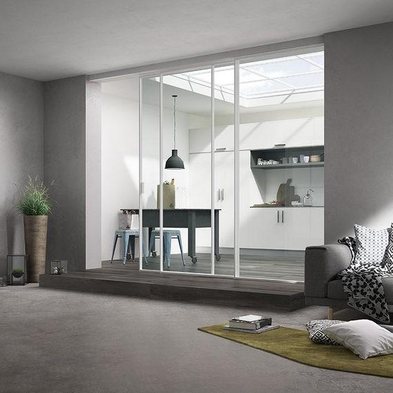 Come coniugare il concetto di open space con l'utilizzo di porte