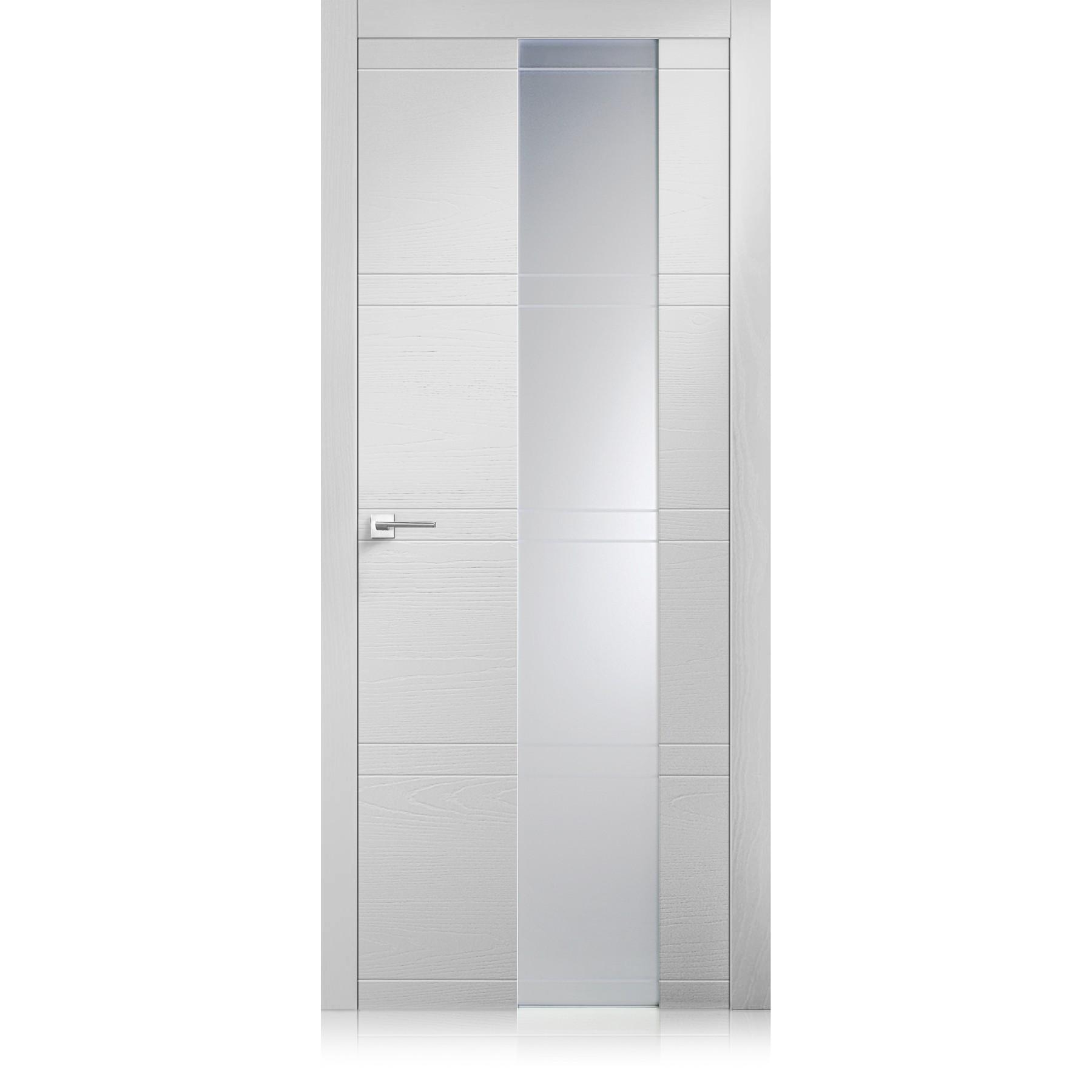 Porte Intaglio / 10 Vetro Textures bianco optical