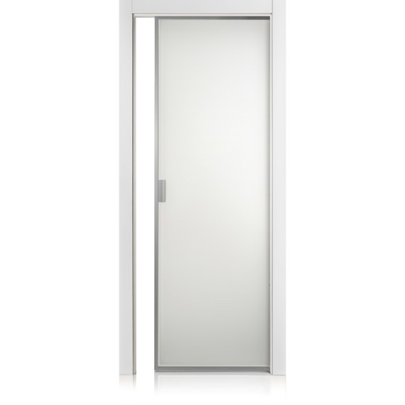 Cristal Frame bianco optical door