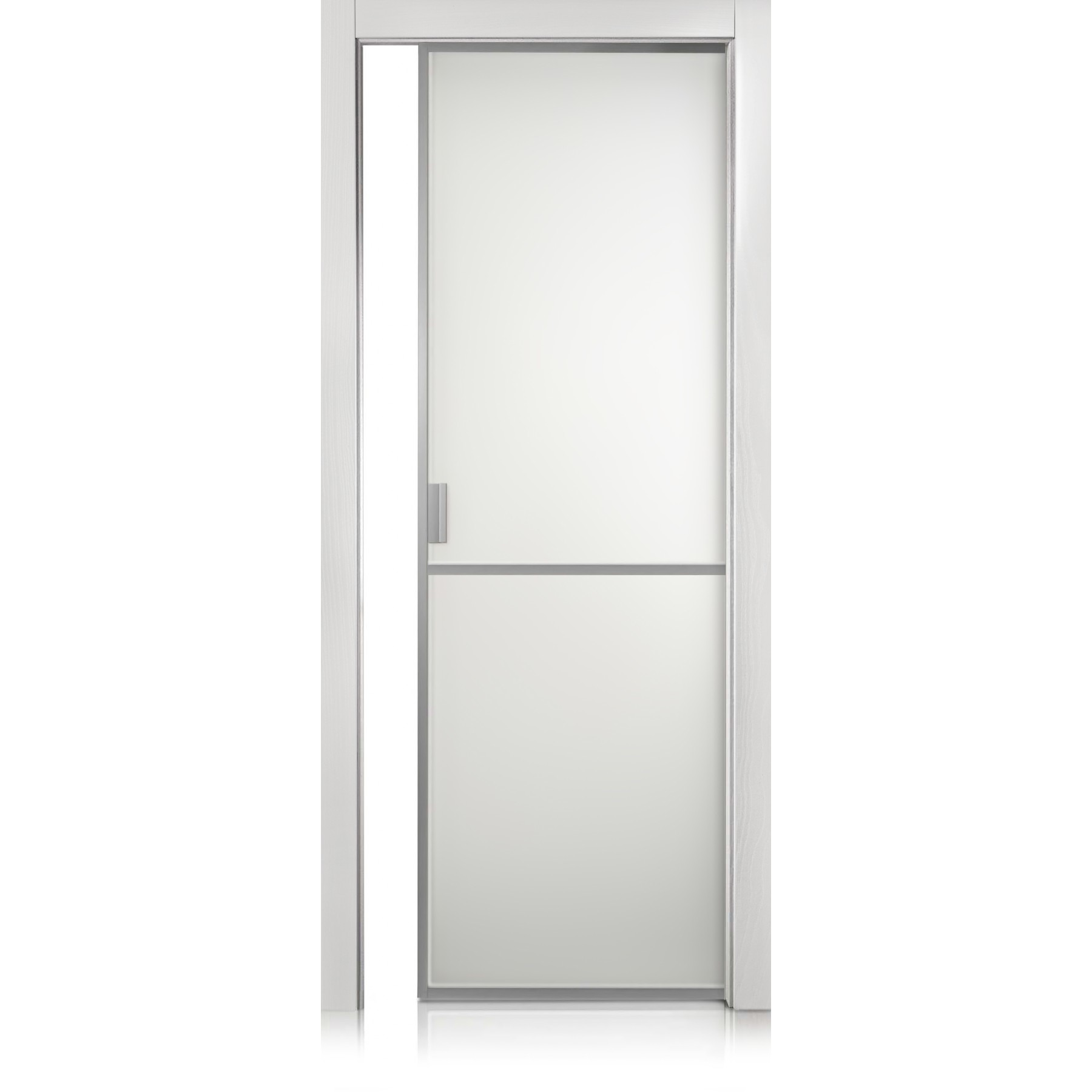 Cristal Frame / 1 Two-colour glass (available in different colours) door