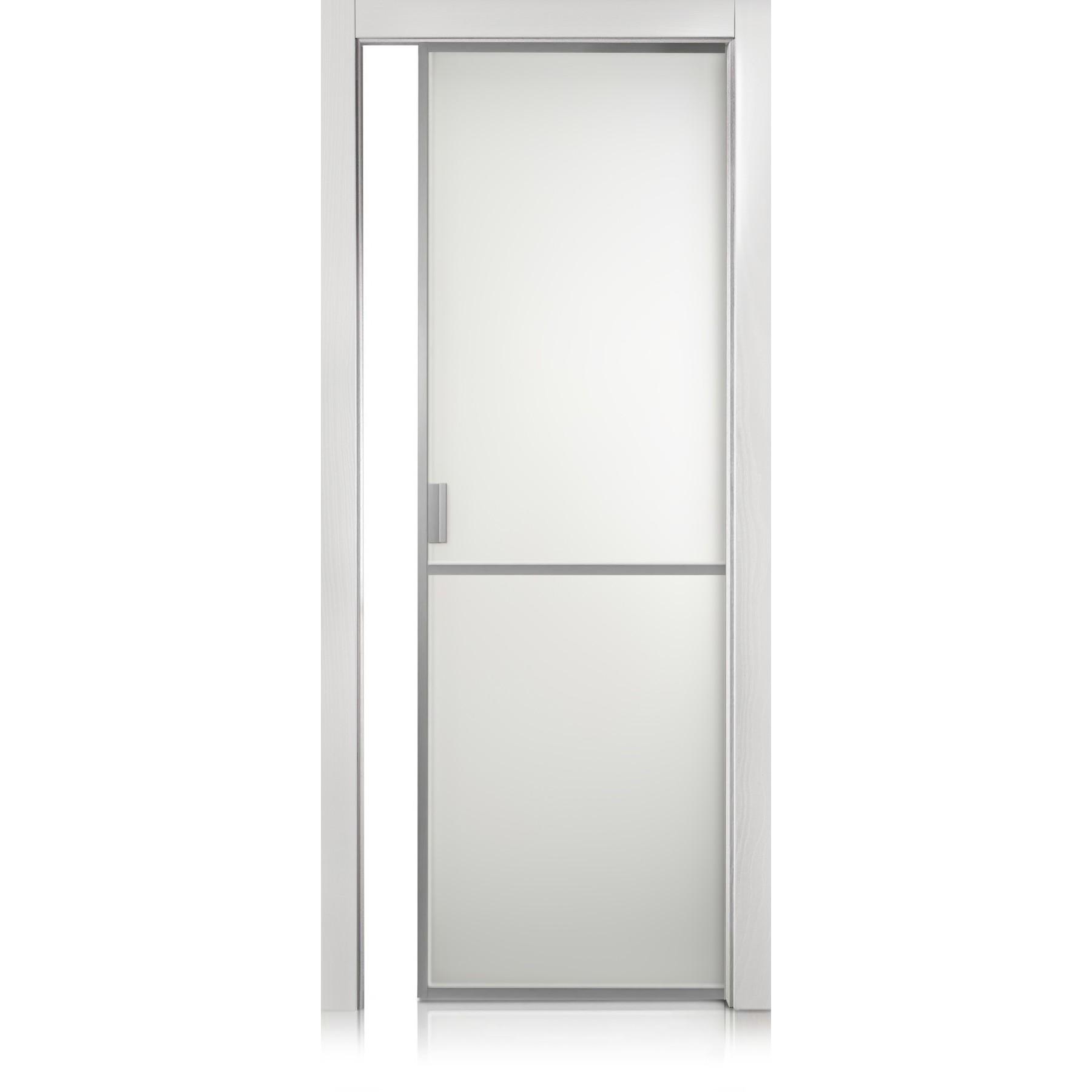 Cristal Frame / 1 trame bianco optical door
