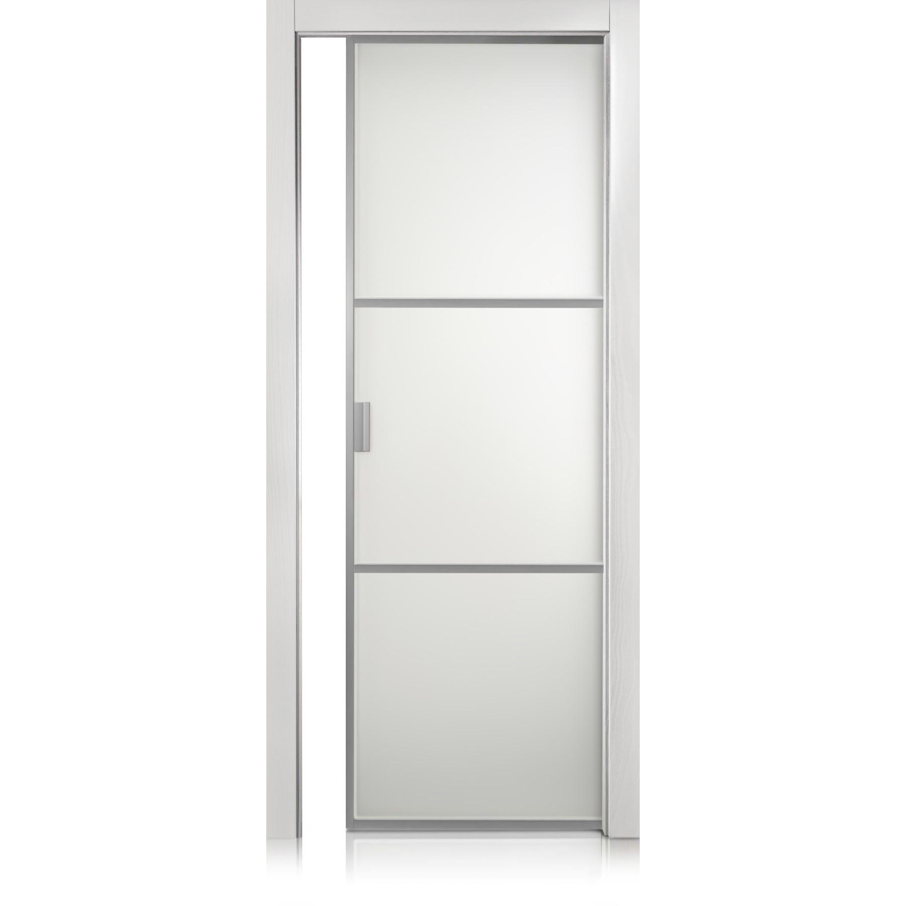 Porte Cristal Frame / 2 Textures bianco optical