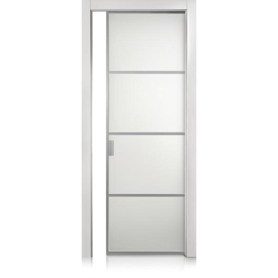 Cristal Frame / 3 trame bianco optical door