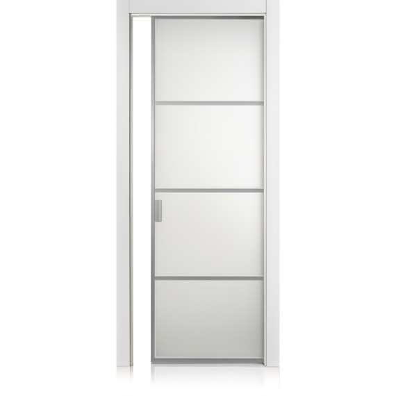 Cristal Frame / 3 bianco optical door