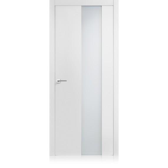Porta Equa vetro Bianco Optical Laccato ULTRAopaco
