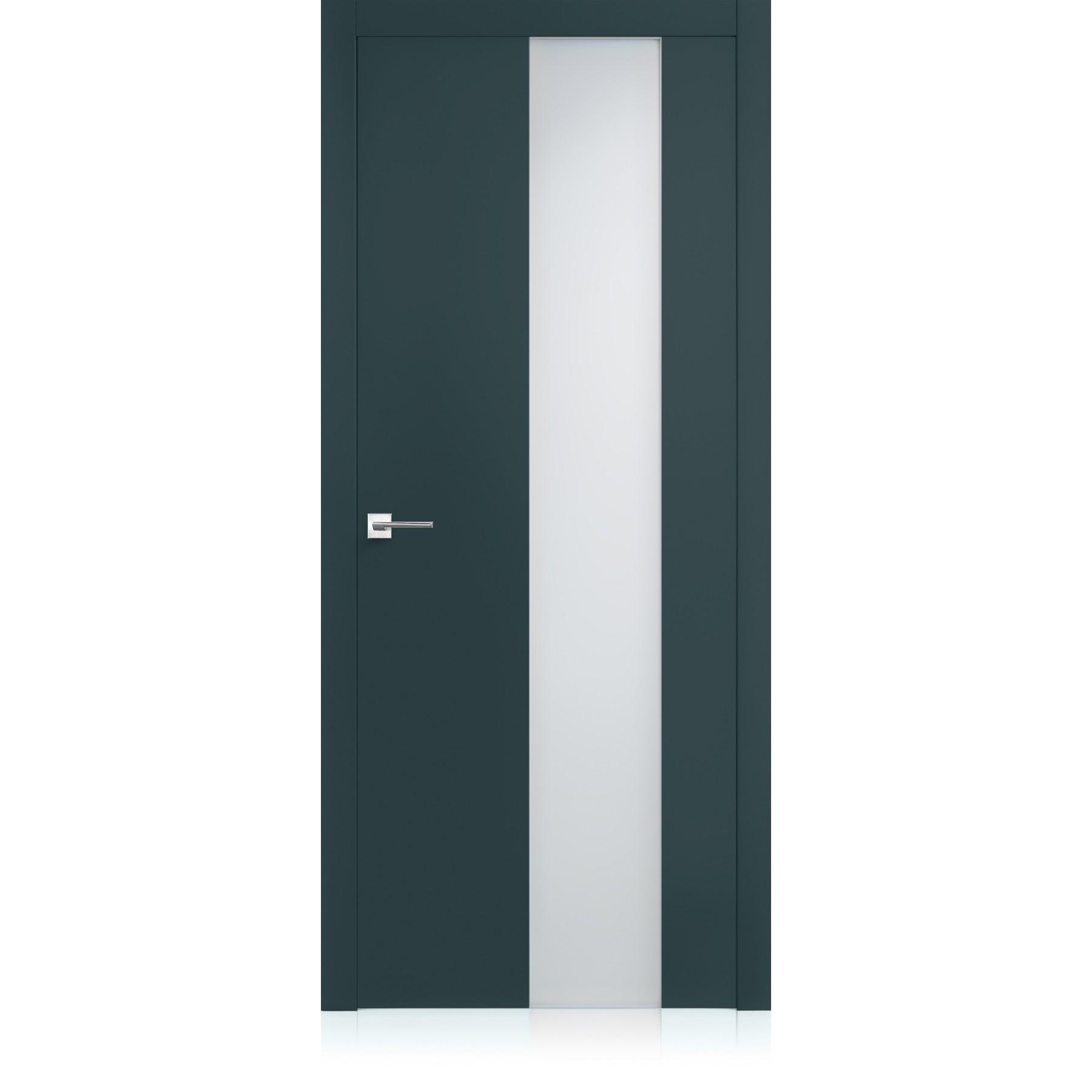 Porta Equa vetro Metallo Dark Laccato ULTRAopaco