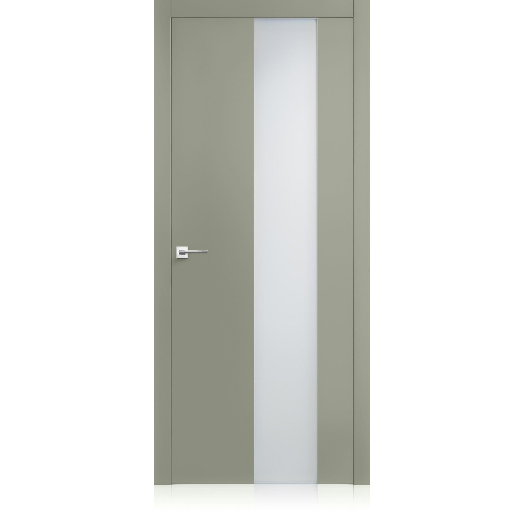 Porta Equa vetro Lichene Light Laccato ULTRAopaco