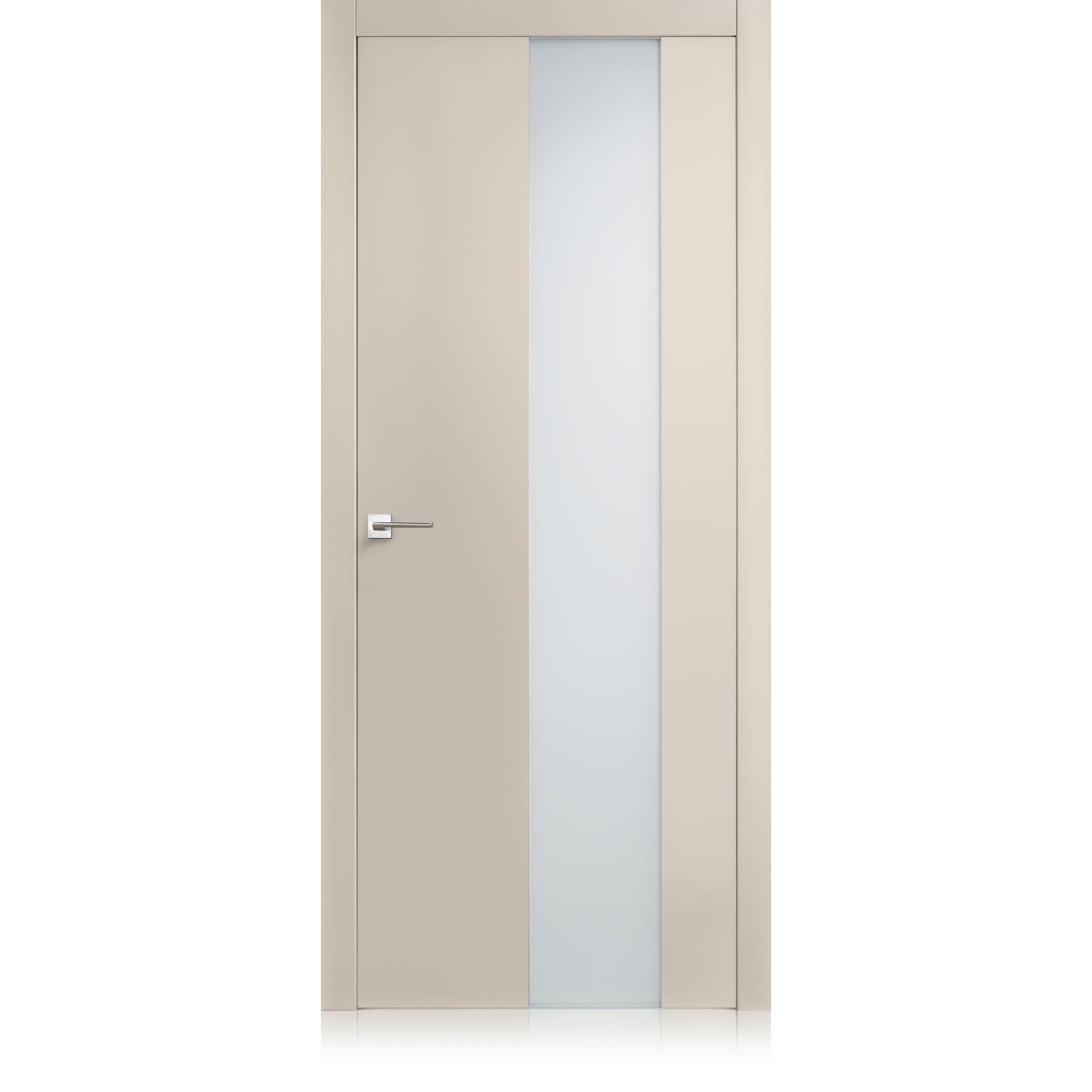 Porta Exit vetro tortora laccato ULTRAlucido