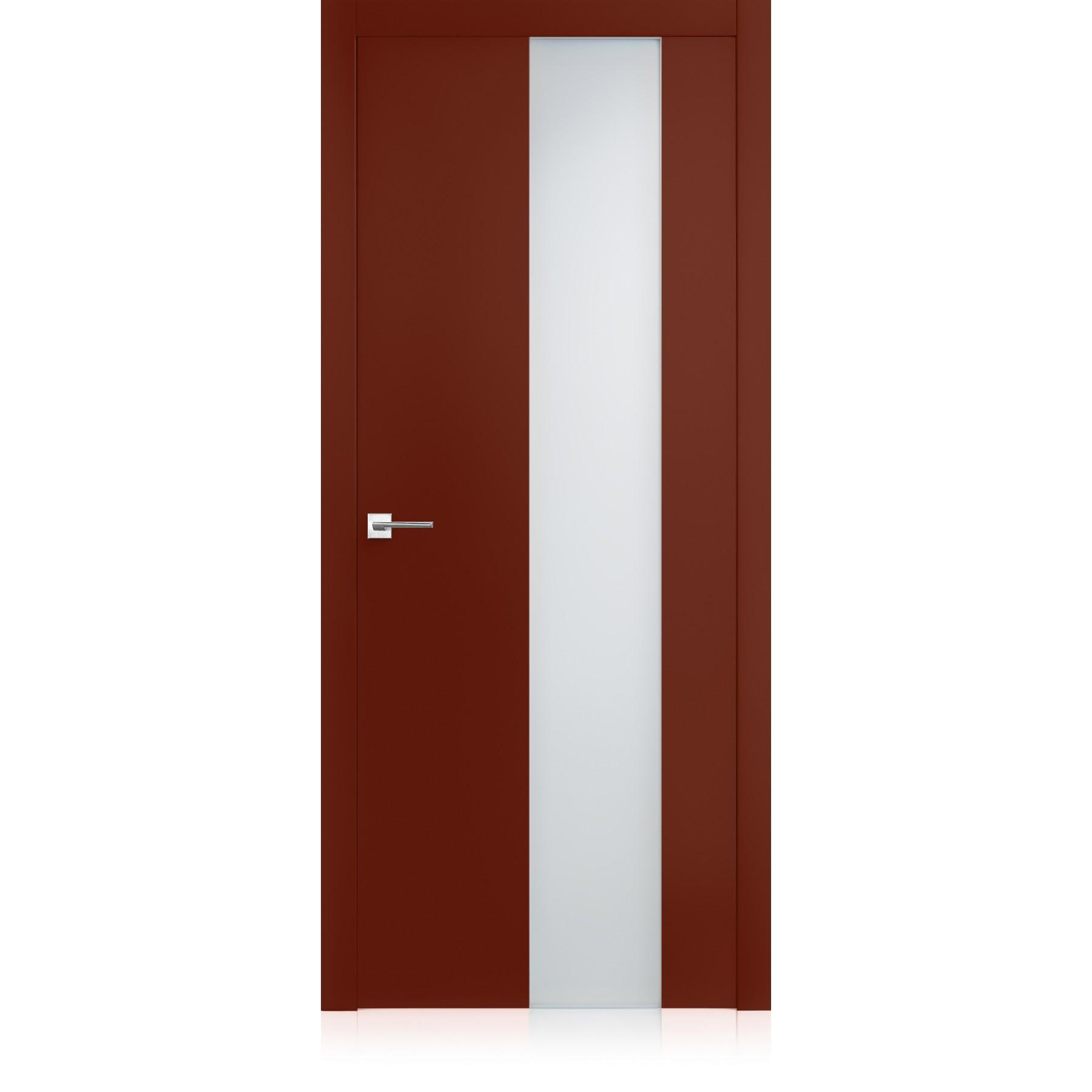 Porta Exit vetro Corallo Pure Laccato ULTRAlucido