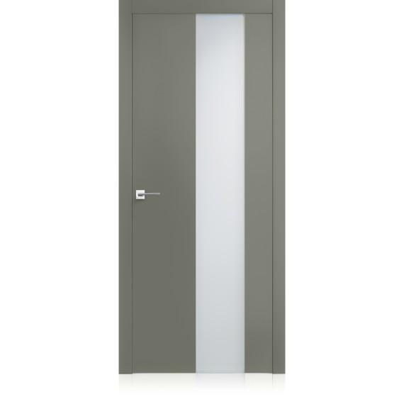 Porta Exit vetro Lichene Pure Laccato ULTRAlucido