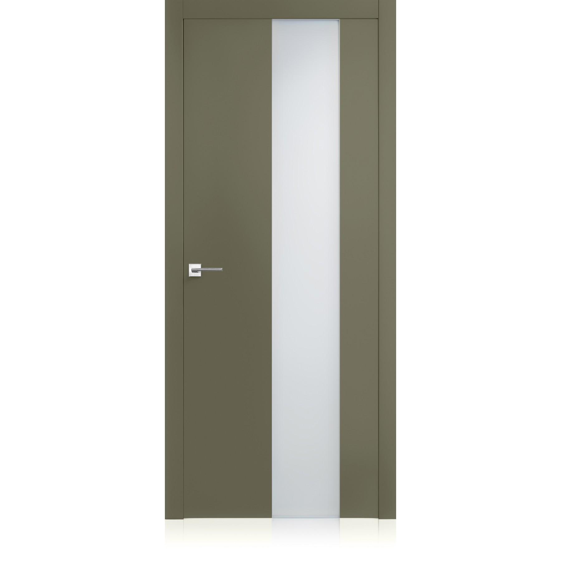 Porta Exit vetro Oliva Light Laccato ULTRAlucido