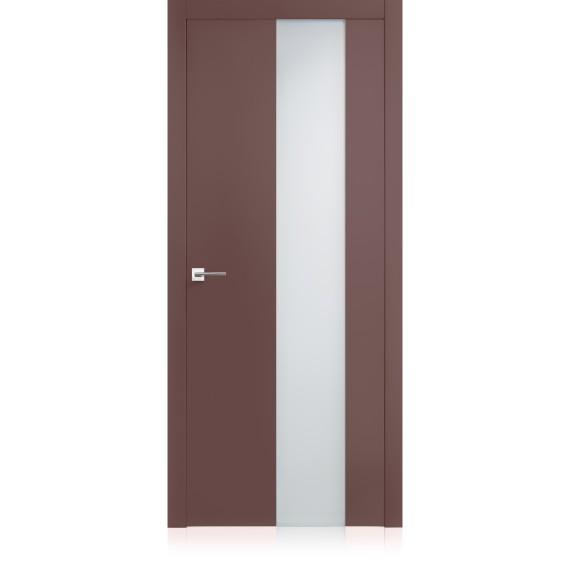 Porta Exit vetro Malva Pure Laccato ULTRAlucido