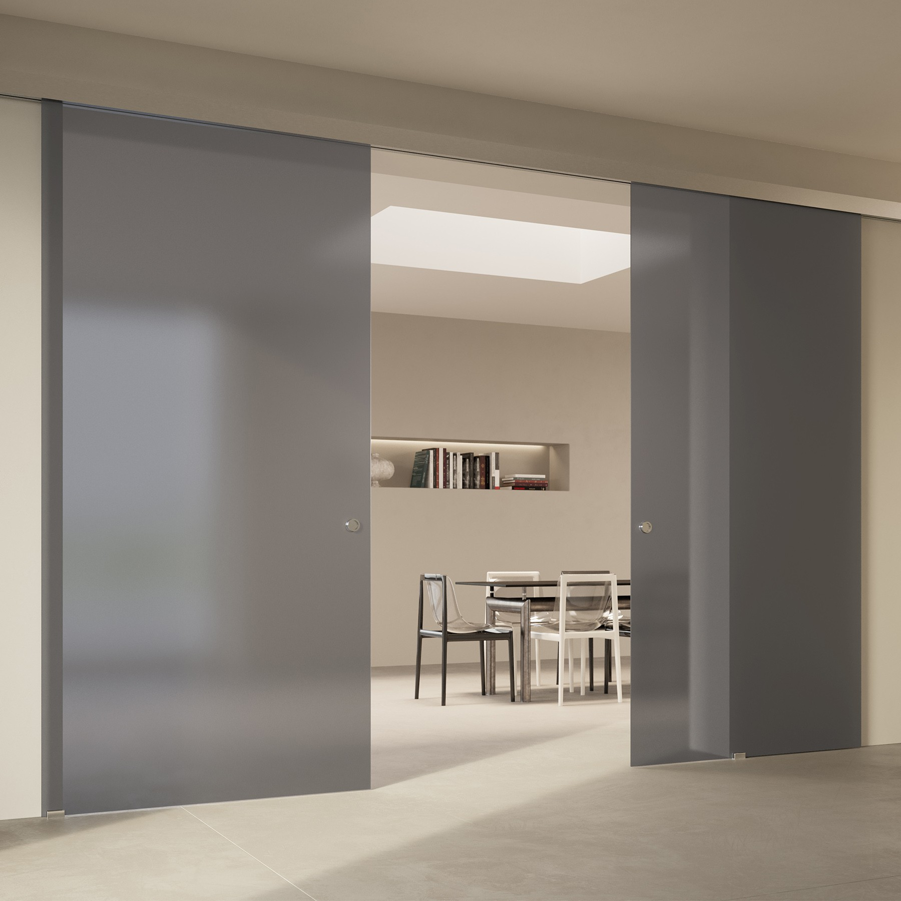 Scenario Visio with Point frosted grigio glass
