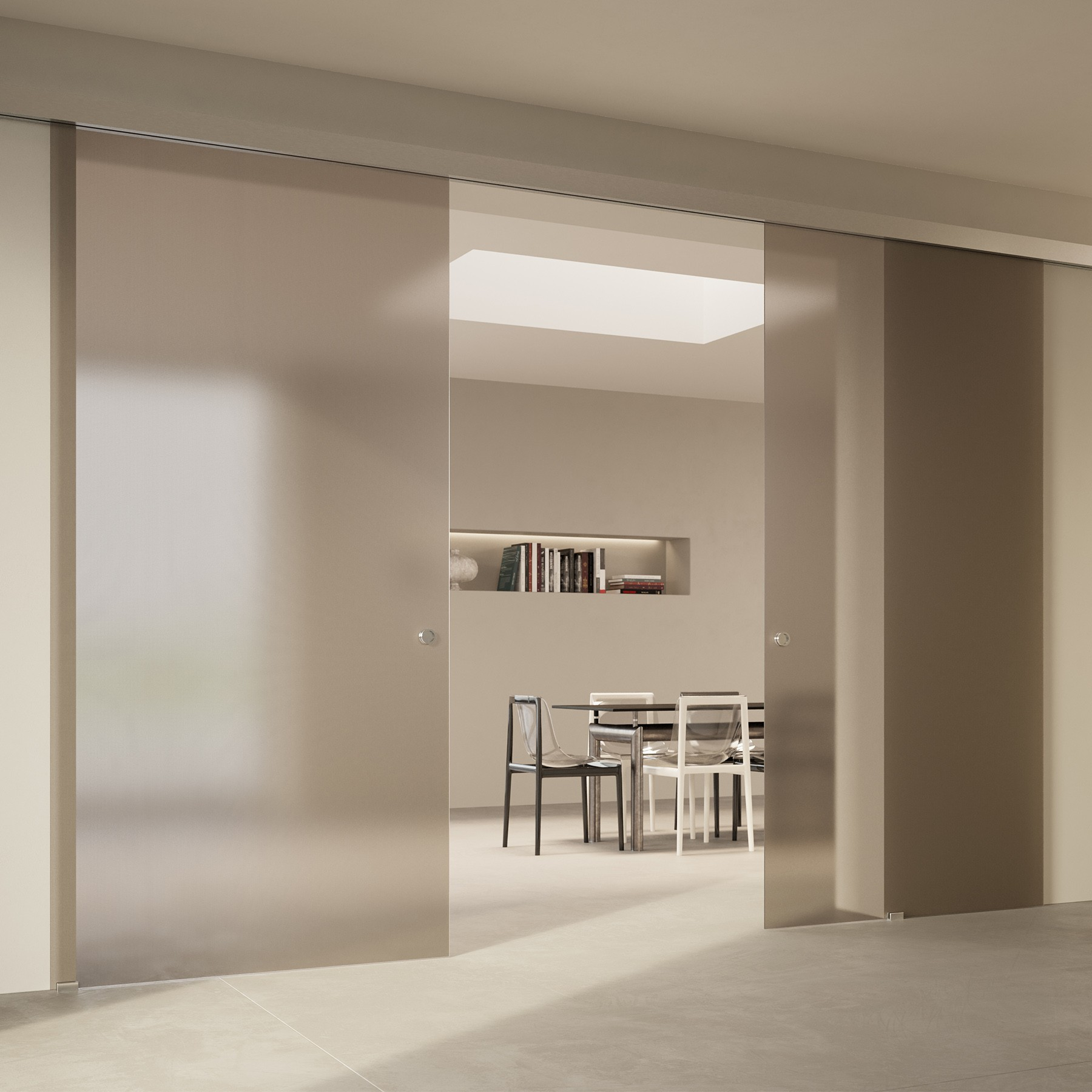 Scenario Visio with Point frosted bronzo glass